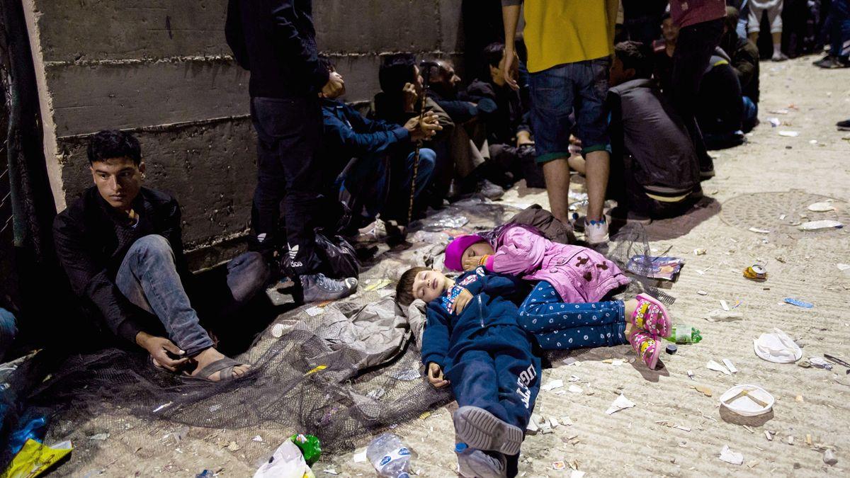 Kinder im Flüchtlingslager in Moria