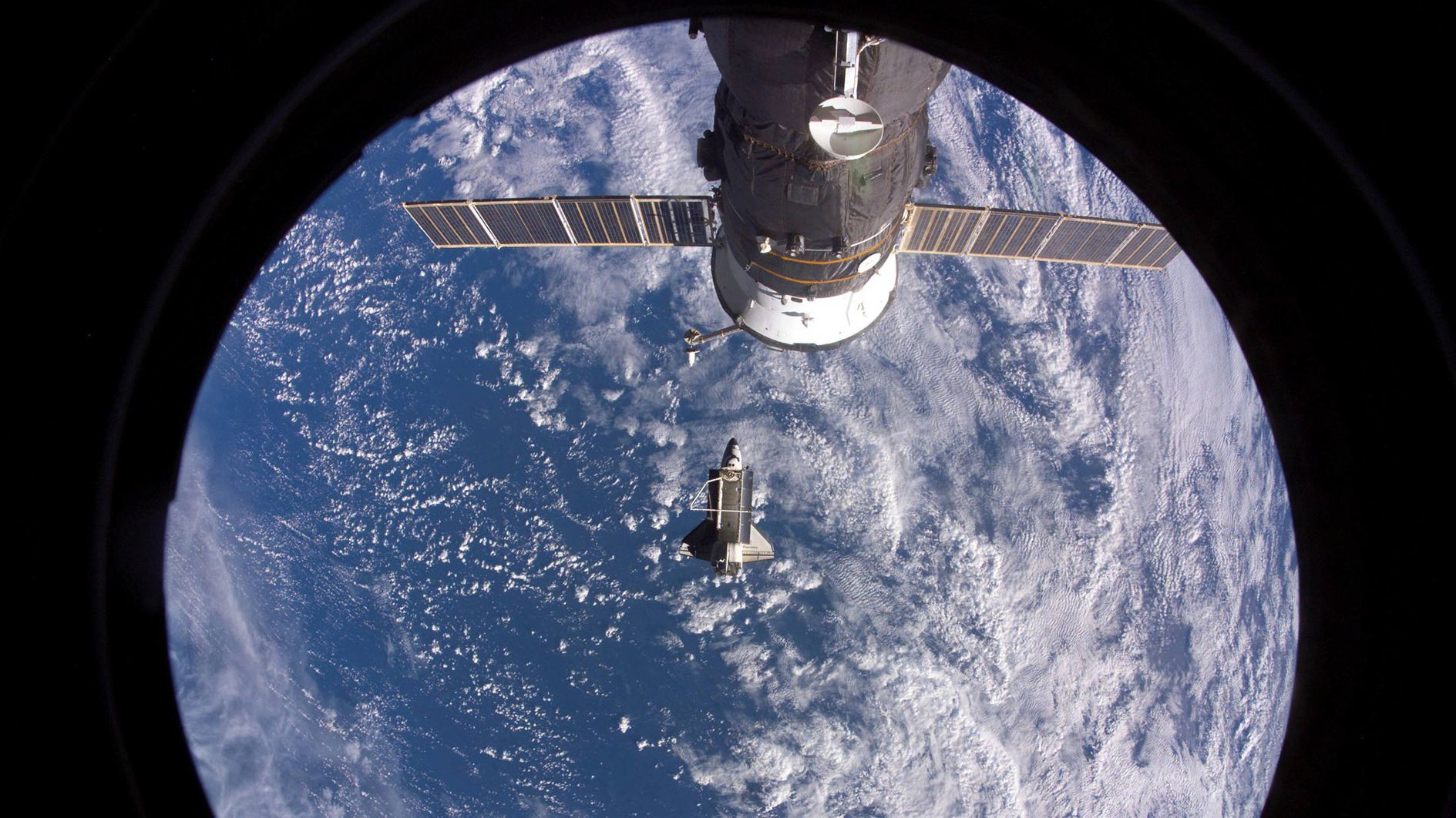 Blick aus der ISS Richtung Erde
