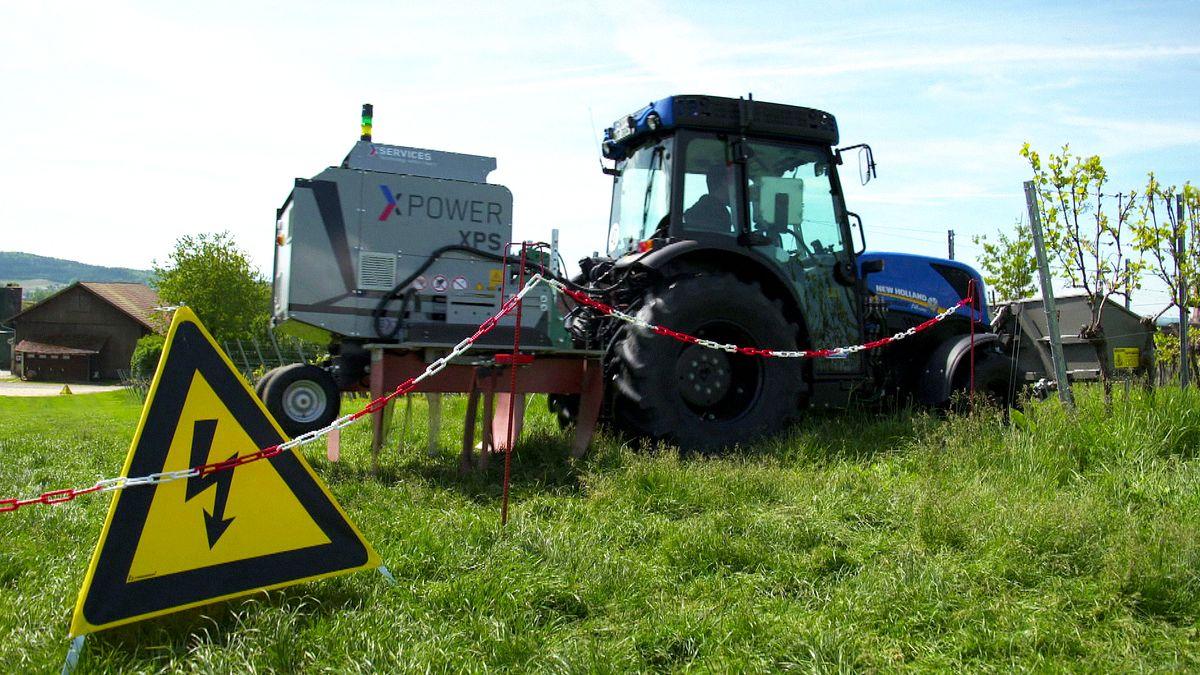 Traktor mit XPower-Gerät