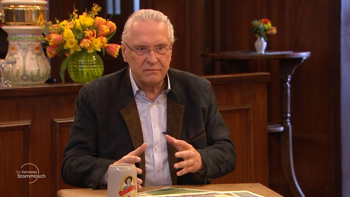 Bayerns Innenminister Joachim Herrmann im Sonntags-Stammtisch des BR Fernsehens (31.01.21)