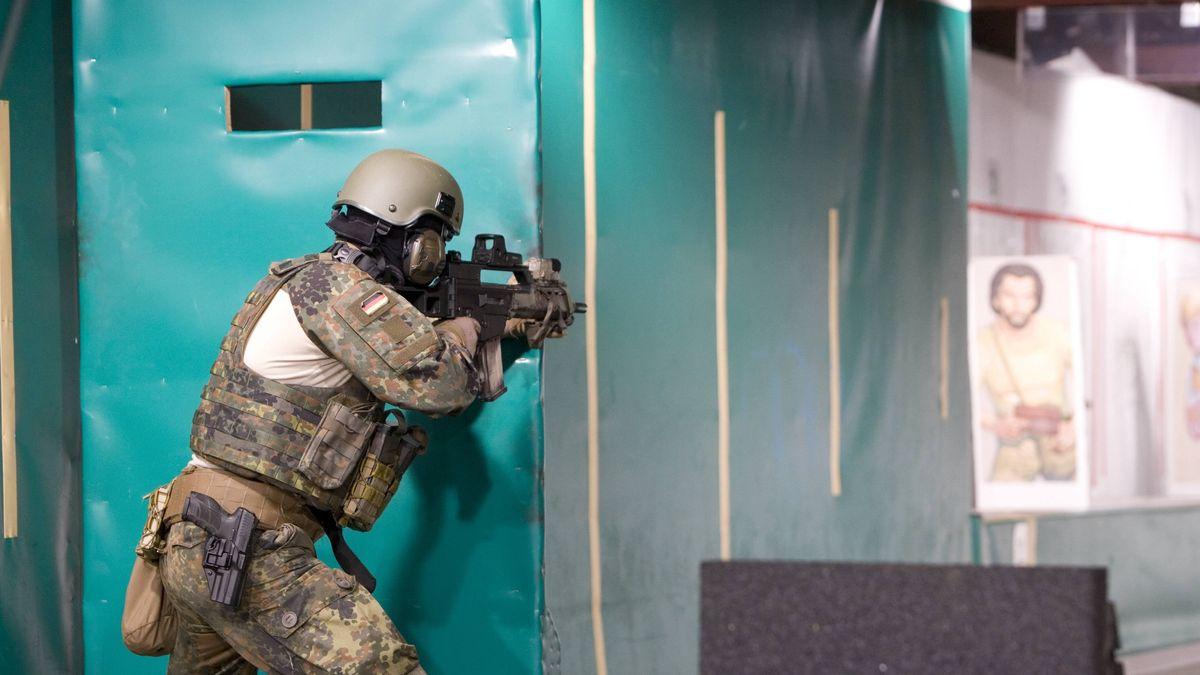 Schießtraining im Schießausbildungszentrum des KSK in Calw