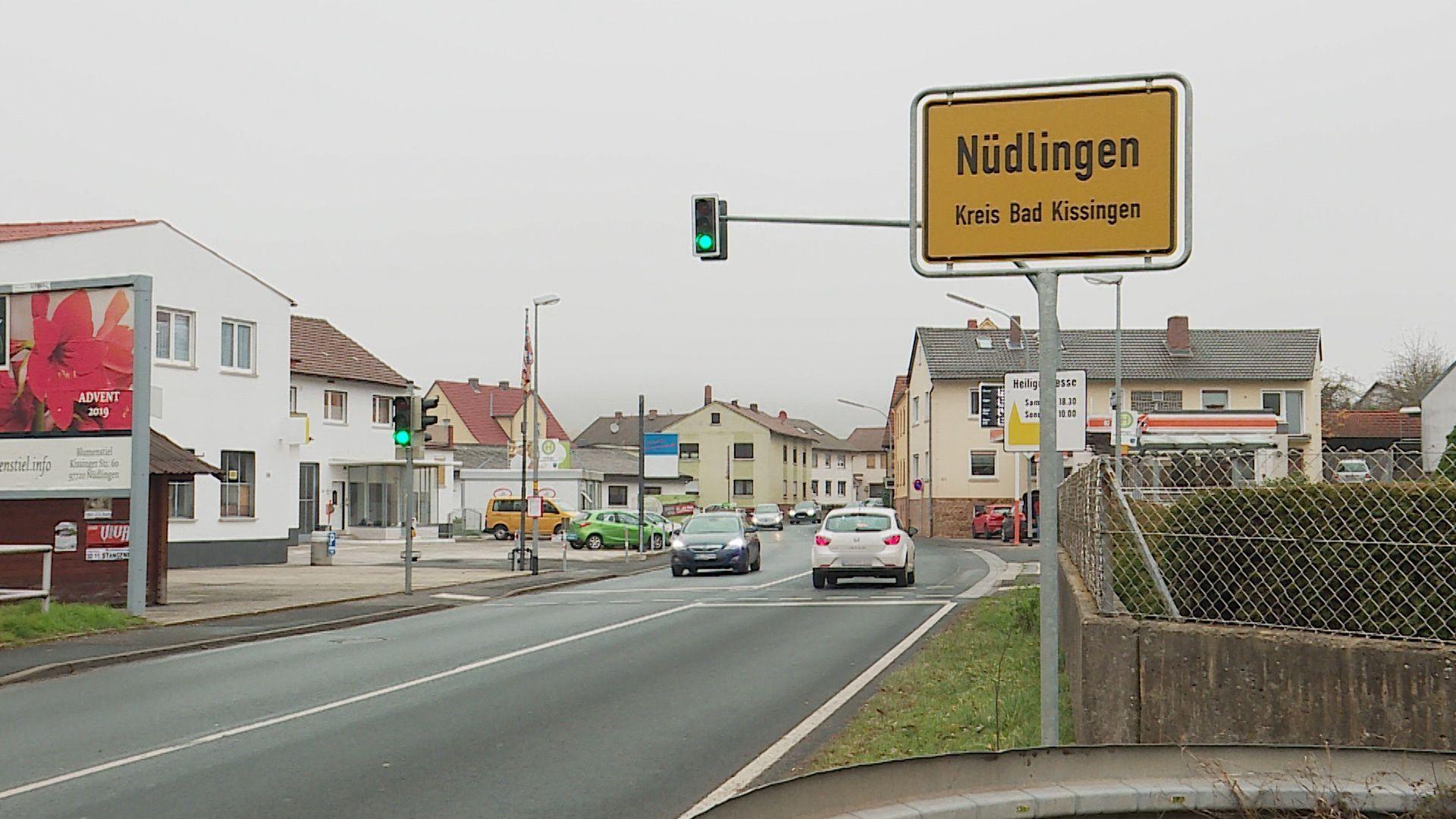 Ortsschild von Nüdlingen