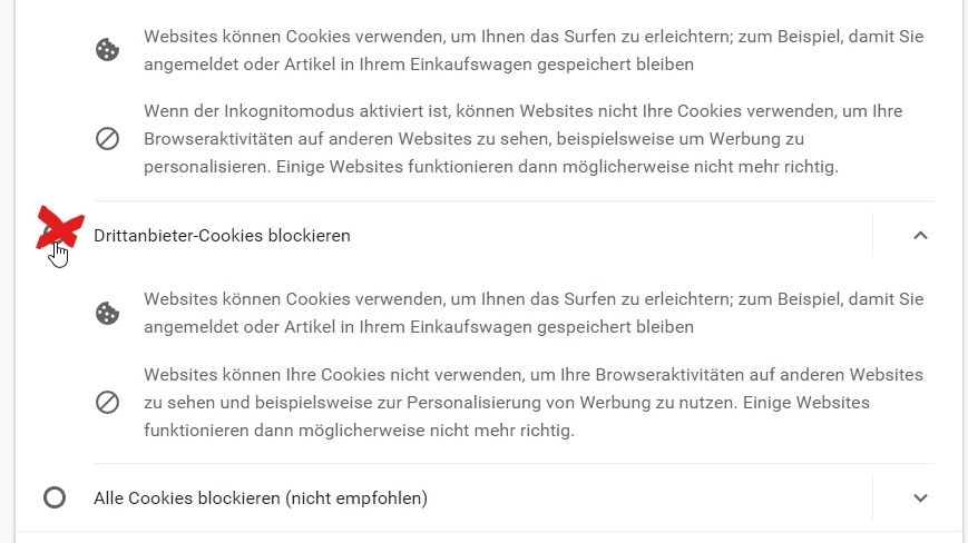 Browser-Einstellungen