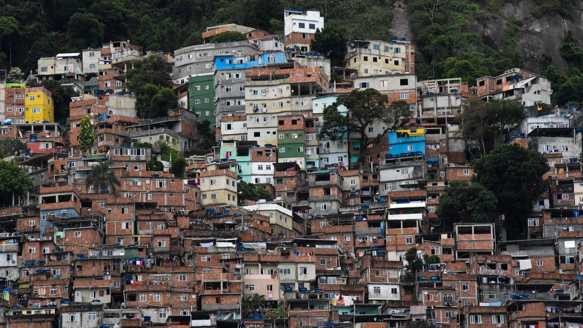 Die Favela da Rocinha in Rio de Janeiro im April 2021