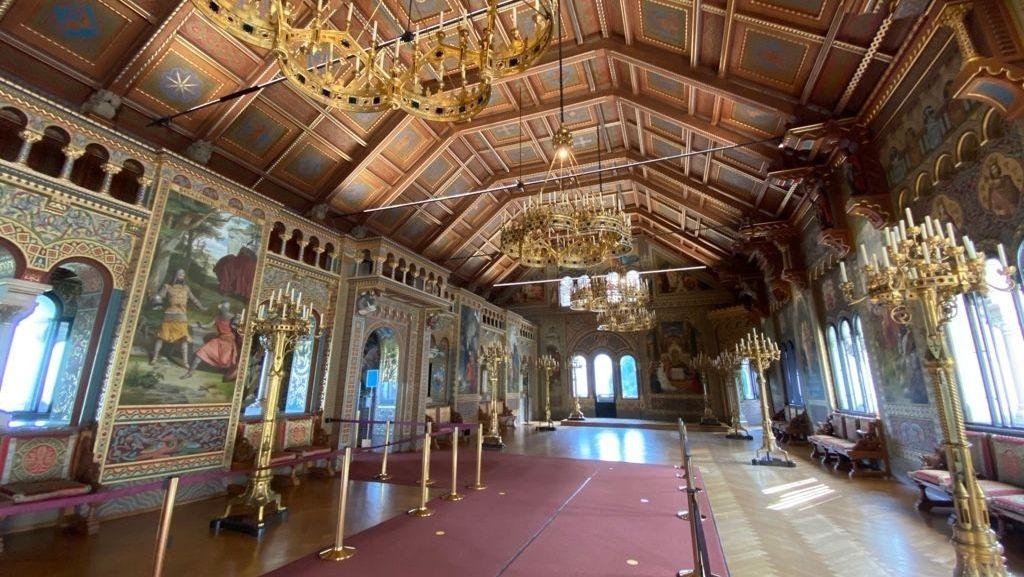 Der restaurierte Sängersaal im Schloss Neuschwanstein am 27.08.2020