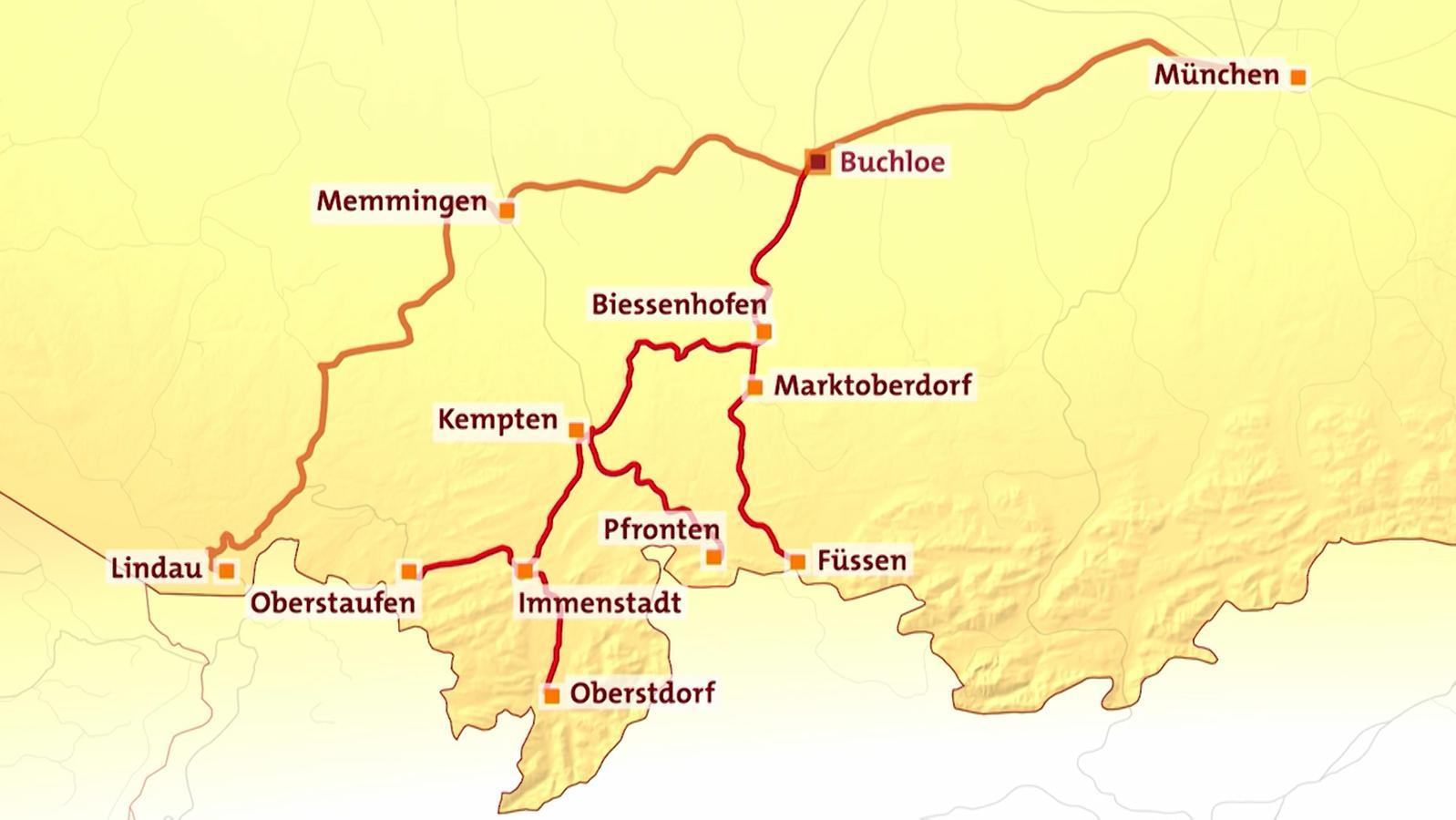 In Deutlich Weniger Als Zwei Stunden Mit Dem Zug Von München Nach Lindau Das Verspricht Der Ausbau Der Bahnstrecke Abs 48 Der Vor Allem Den Schnellen Eurocity Zügen Zugutekommt Berufspendler Aus