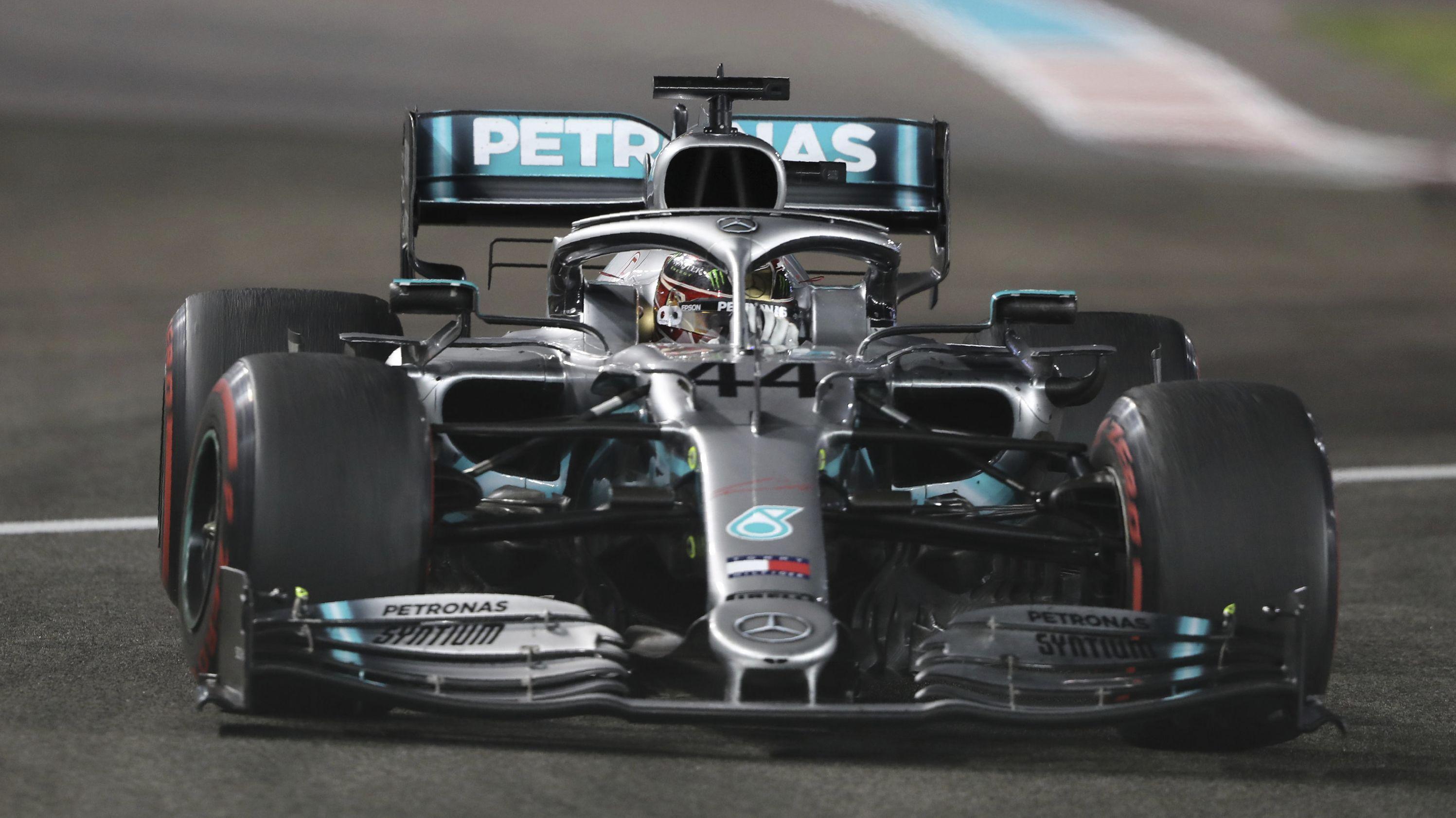 Lewis Hamilton auf dem Kurs in Abu Dhabi