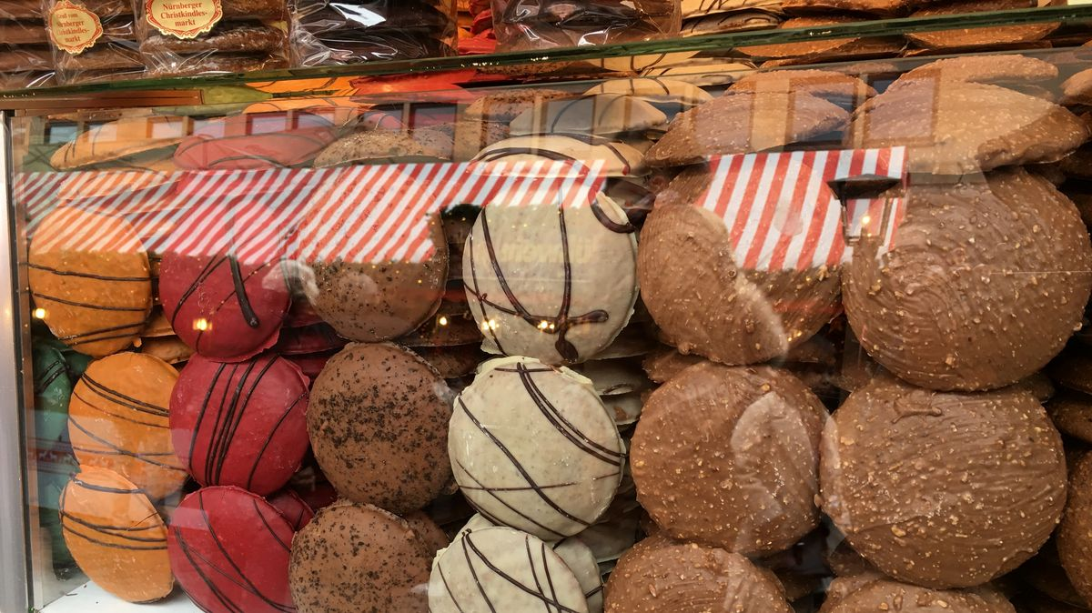 Lebkuchen am Nürnberger Christkindlesmarkt
