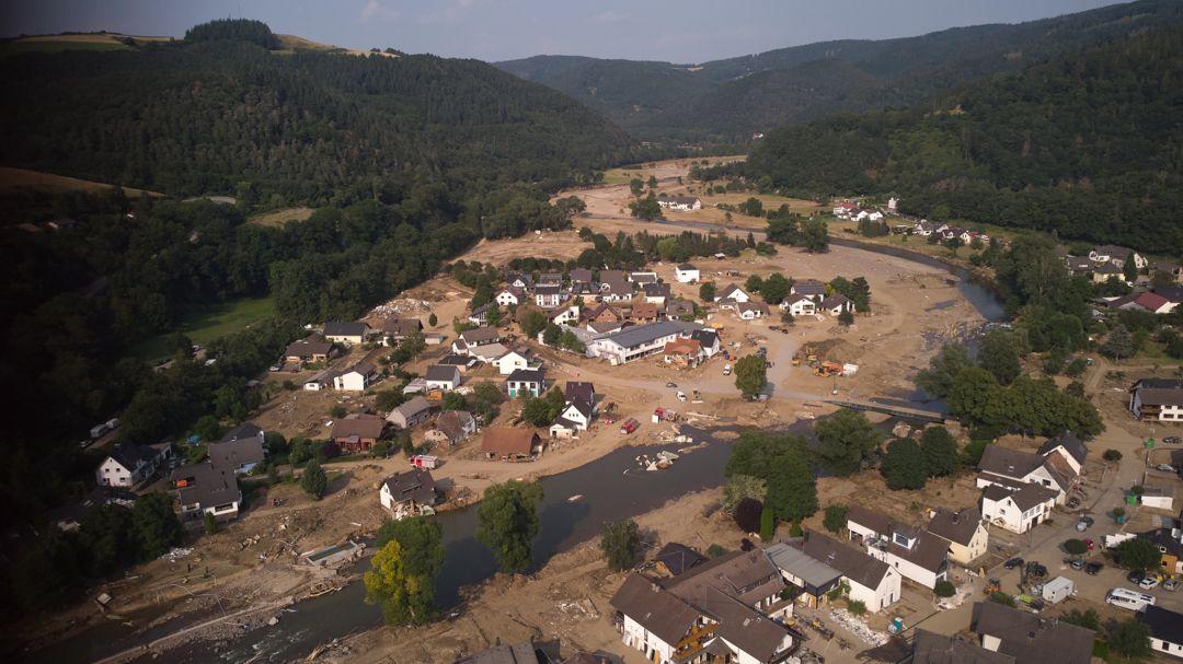 22.07.2021, Rheinland-Pfalz, Insul nach dem Hochwasser.