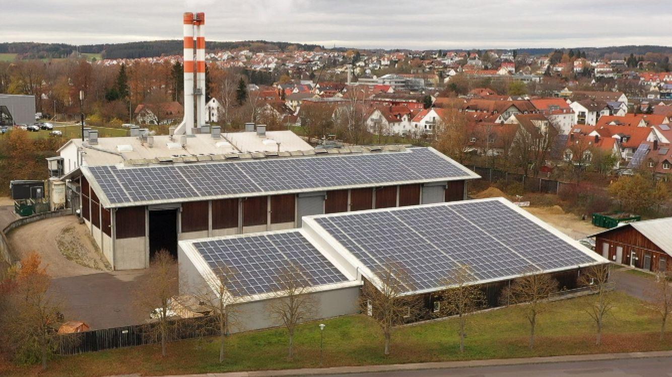 Kraftwerk mit Photovoltaik-Modulen