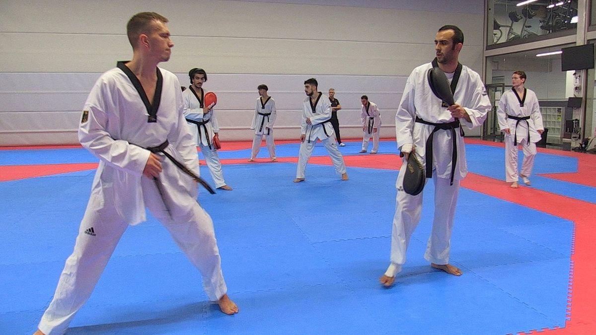 Taekwondo-Training am Bundesstützpunkt in Nürnberg