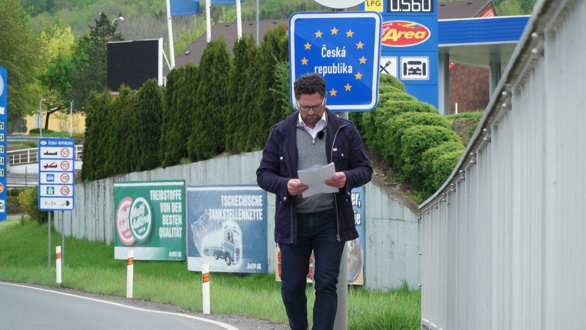 Gerhard Hopp an der Grenze zu Tschechien