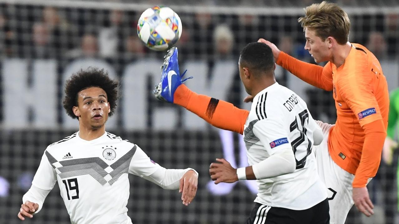 Szene aus der Partie Deutschland gegen die Niederlande