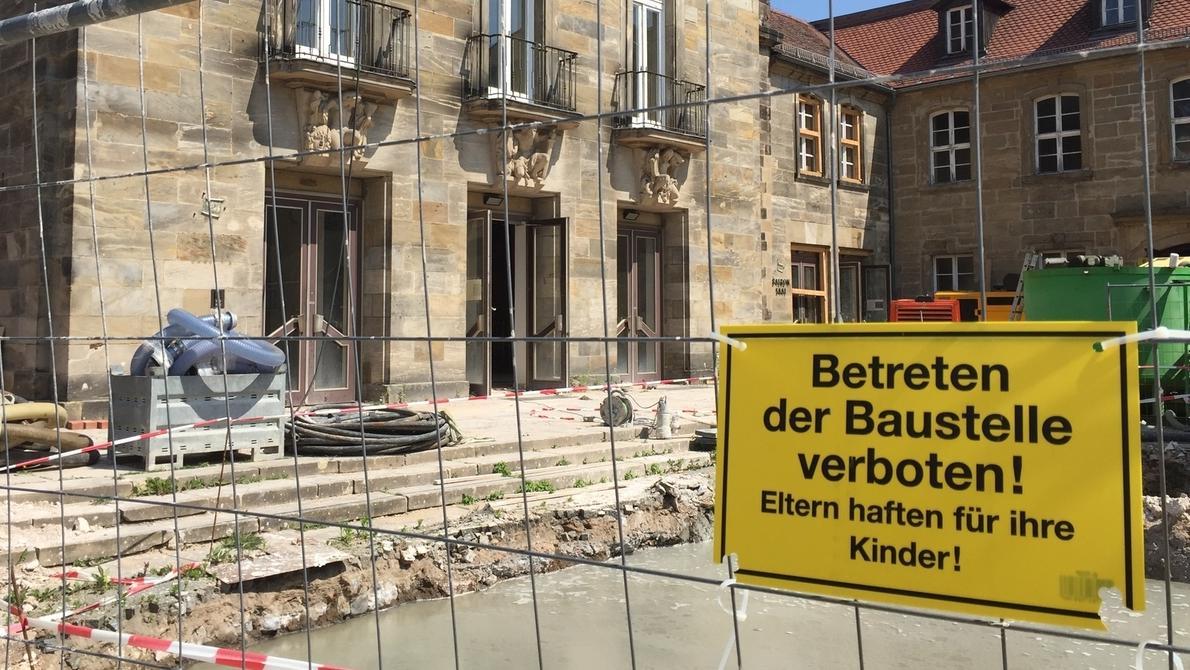 Baustelle in Bayreuth
