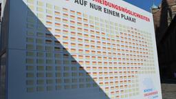 Wand mit Organspendeausweisen | Bild:Staatsministerium für Gesundheit und Pflege