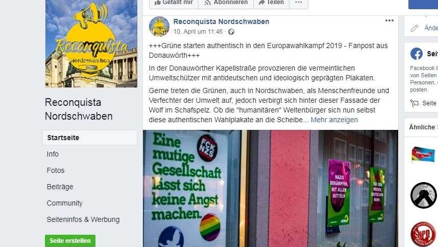 """erste Veröffentlichung der Bilder? """"Reconquista Nordschwaben"""" auf Facebook"""