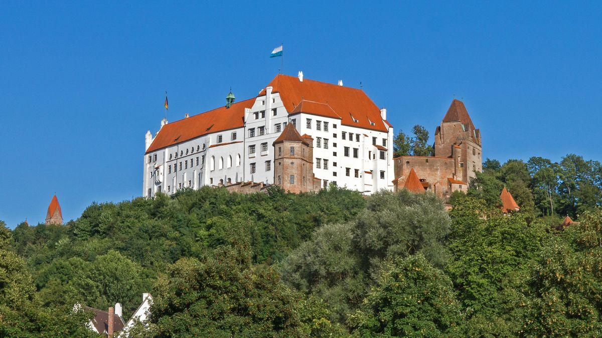 Die historische Burg Trausnitz in Landshut
