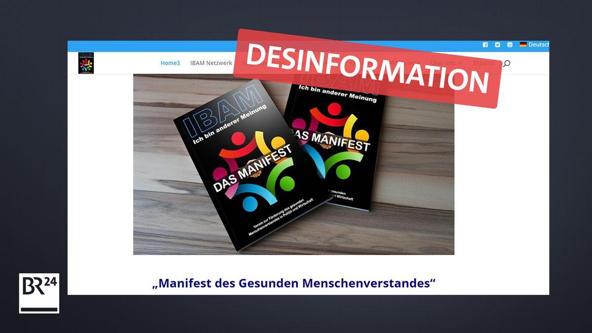 """Die IBAM-Webseite wirbt mit Desinformationen zum um Unterstützer für ihre """"Bürgerbewegung""""."""