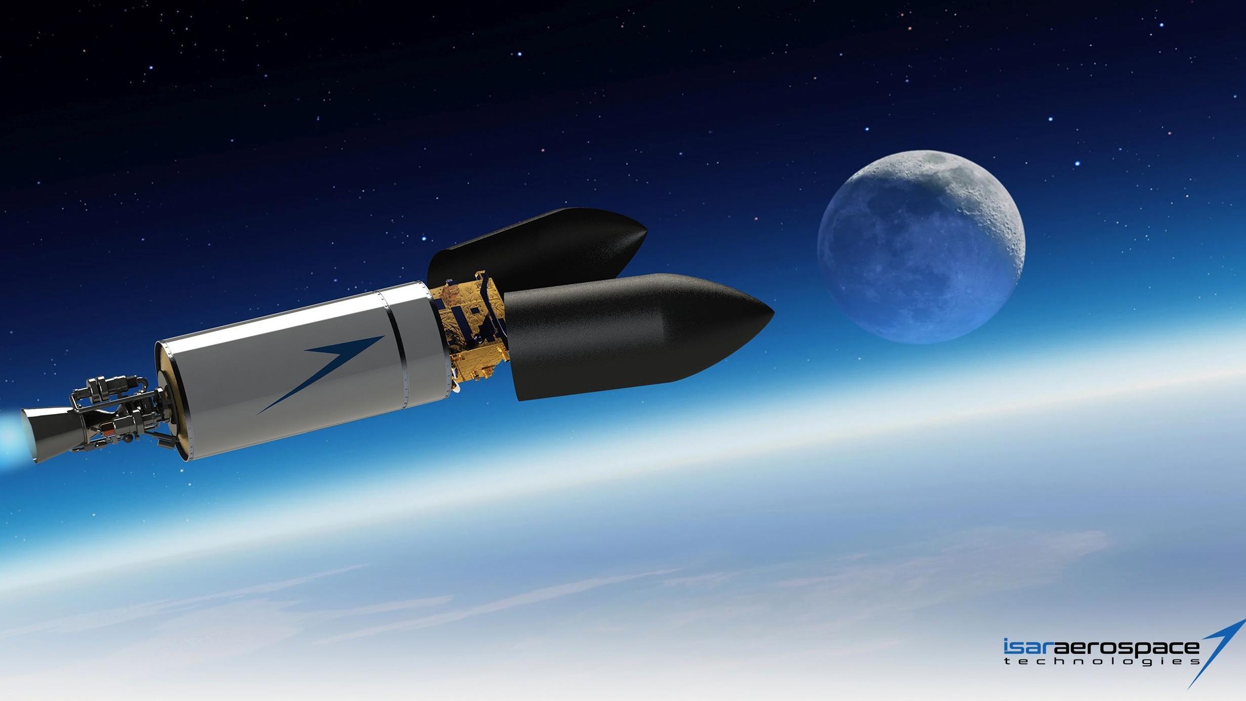 Grafik der Rakete der Münchner Isar Aerospace