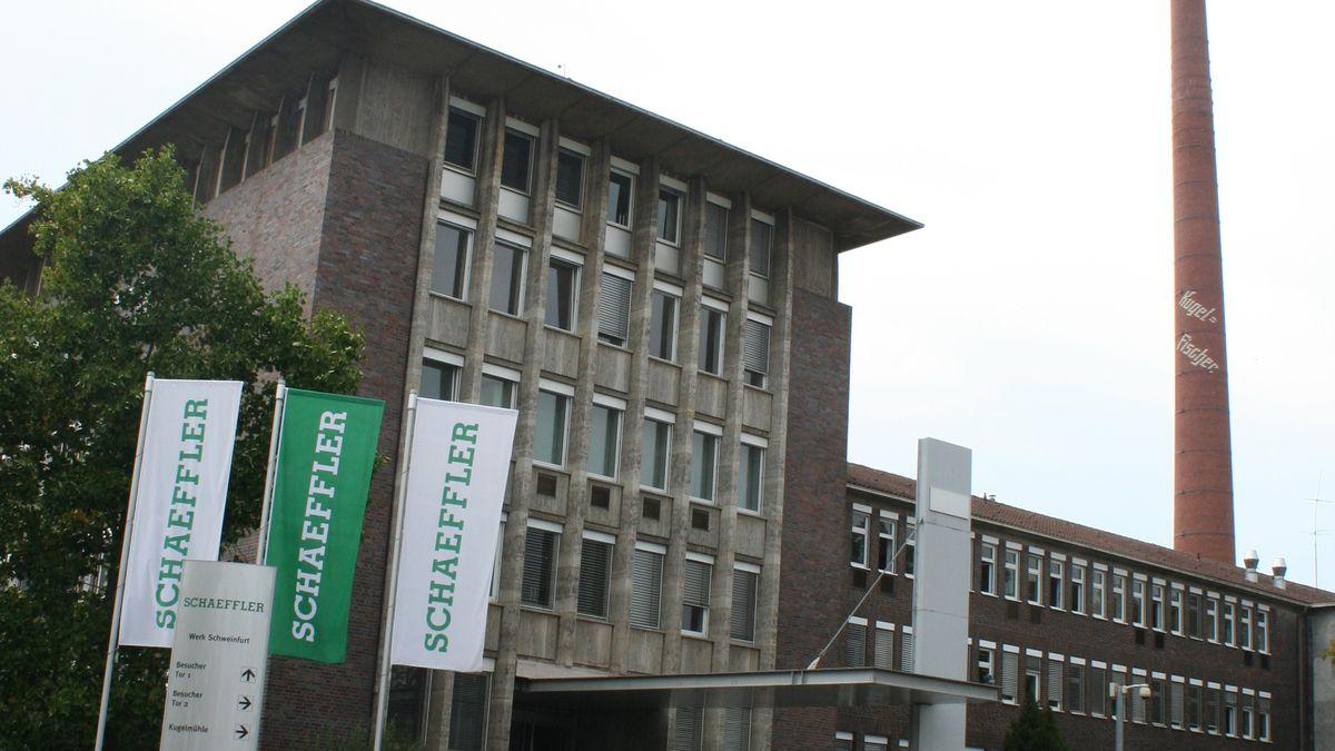 Eingangsbereich des Schaeffler-Werks in Schweinfurt