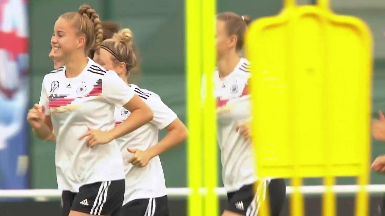 Die DFB-Frauen um Giulia Gwinn
