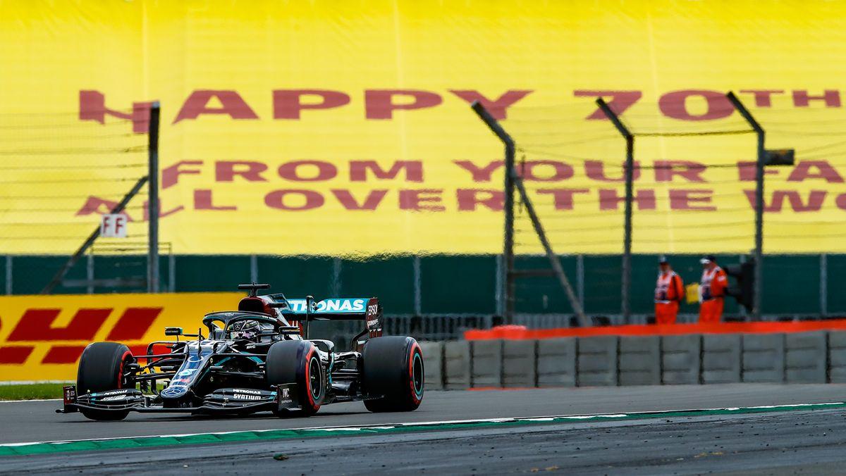 Lewis Hamilton beim Training in Silverstone
