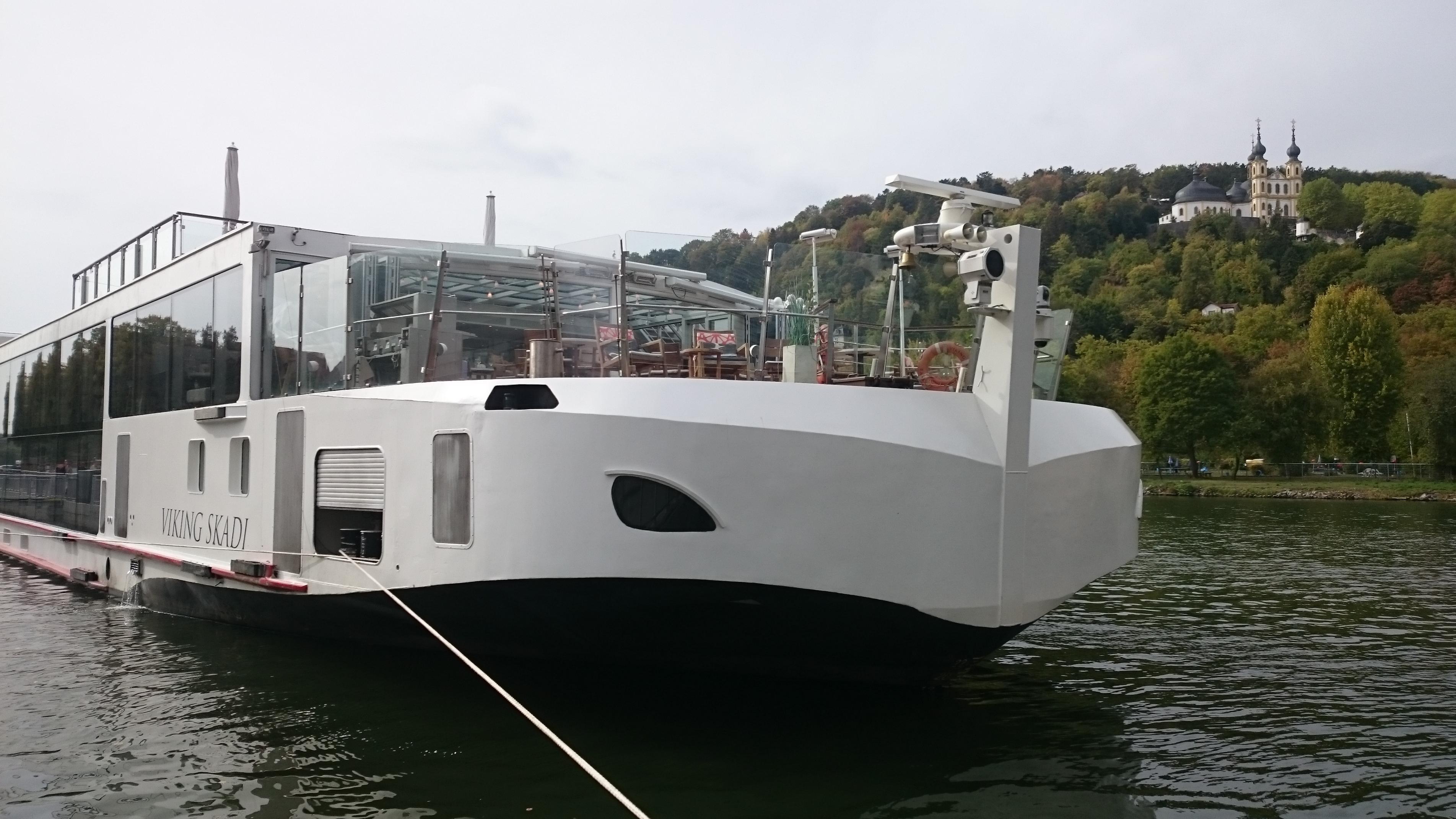 Das 10.000. Kreuzfahrtschiff hat in Würzburg festgemacht.