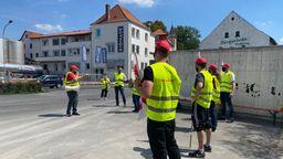 Gewerkschaft ruft Bionade-Mitarbeiter zu Warnstreik auf | Bild:BR-Studio Mainfranken/Thomas Gebhardt