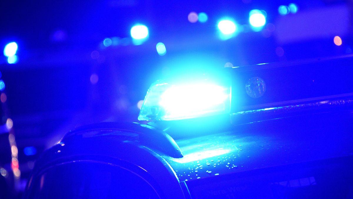 Blaulicht eines Polizeiautos - Nahaufnahme