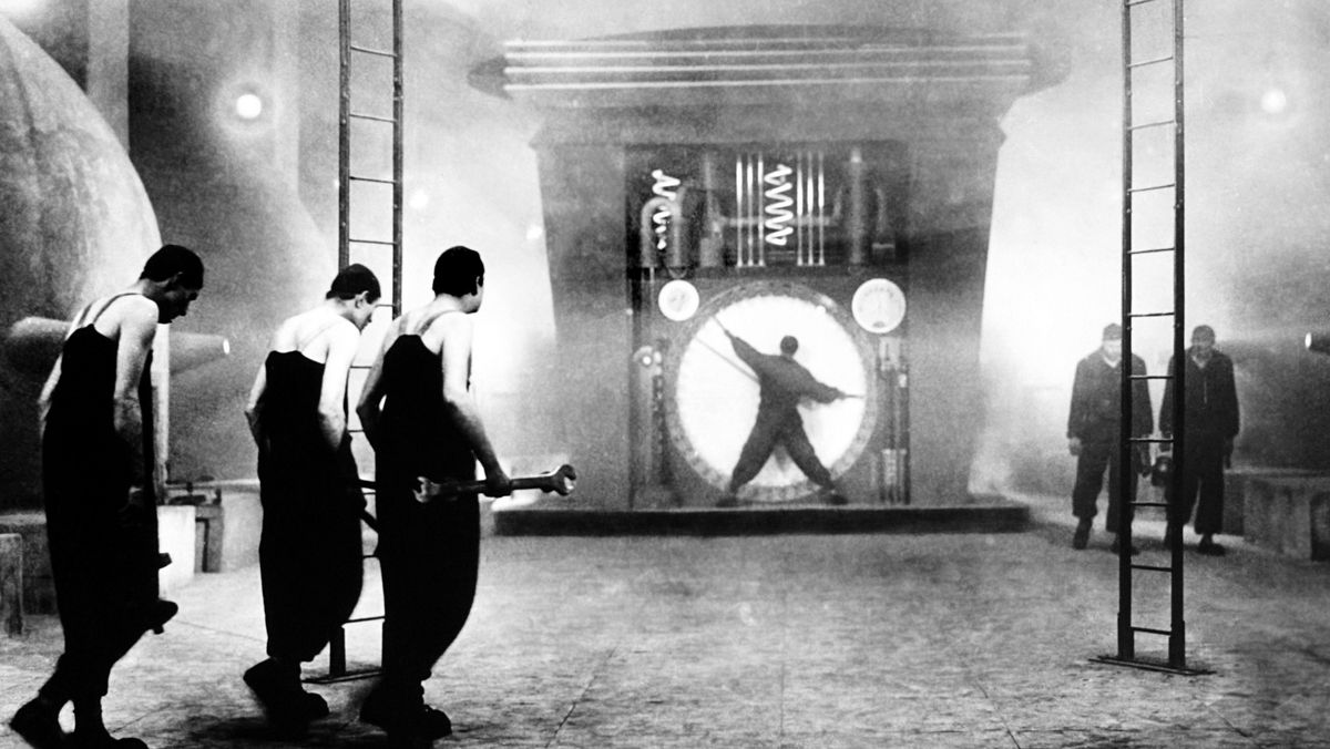 """Szene aus dem schwarzweiß-Film """"Metropolis"""" von 1927"""