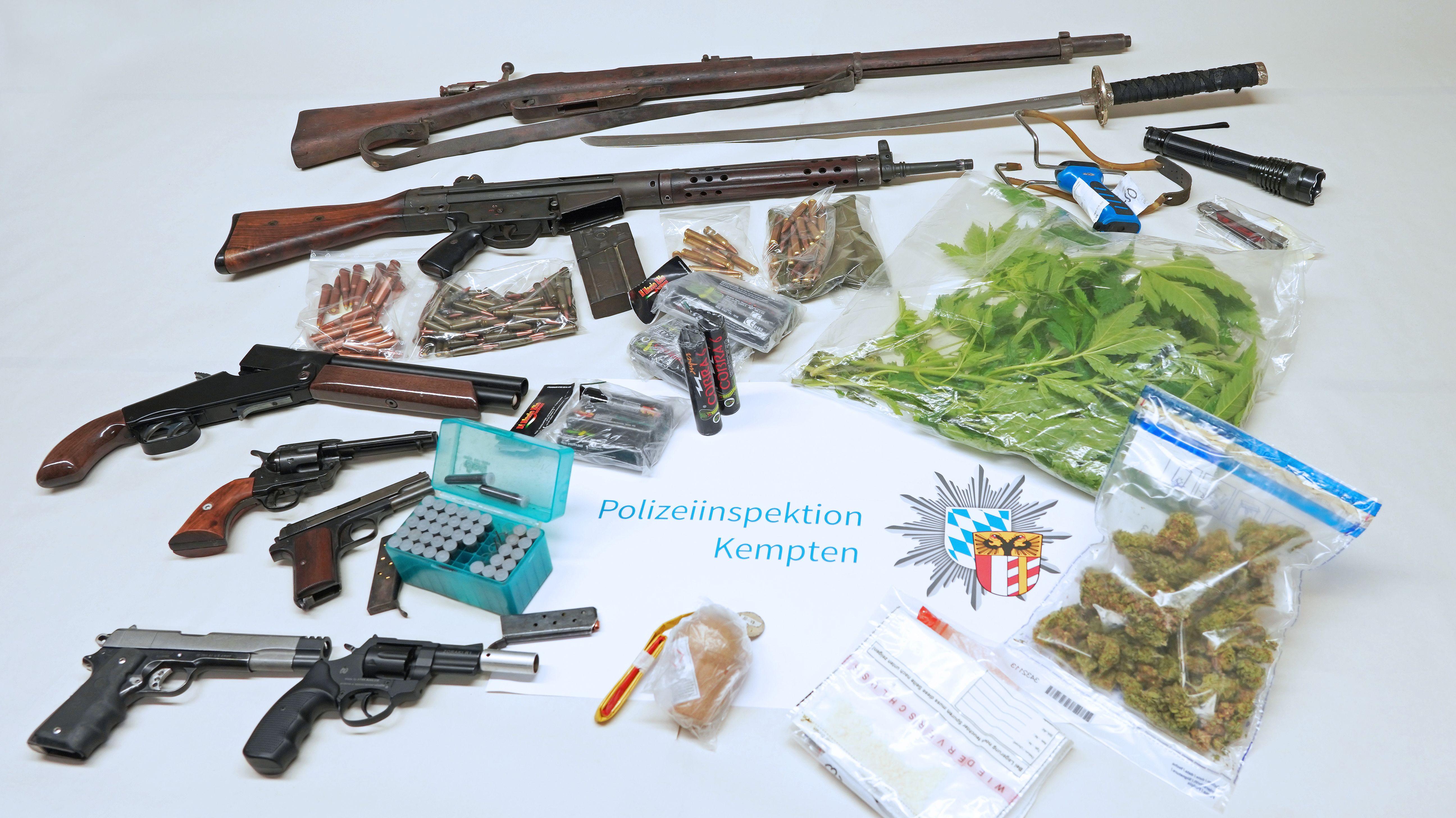 Waffen- und Drogenfund im Oberallgäu