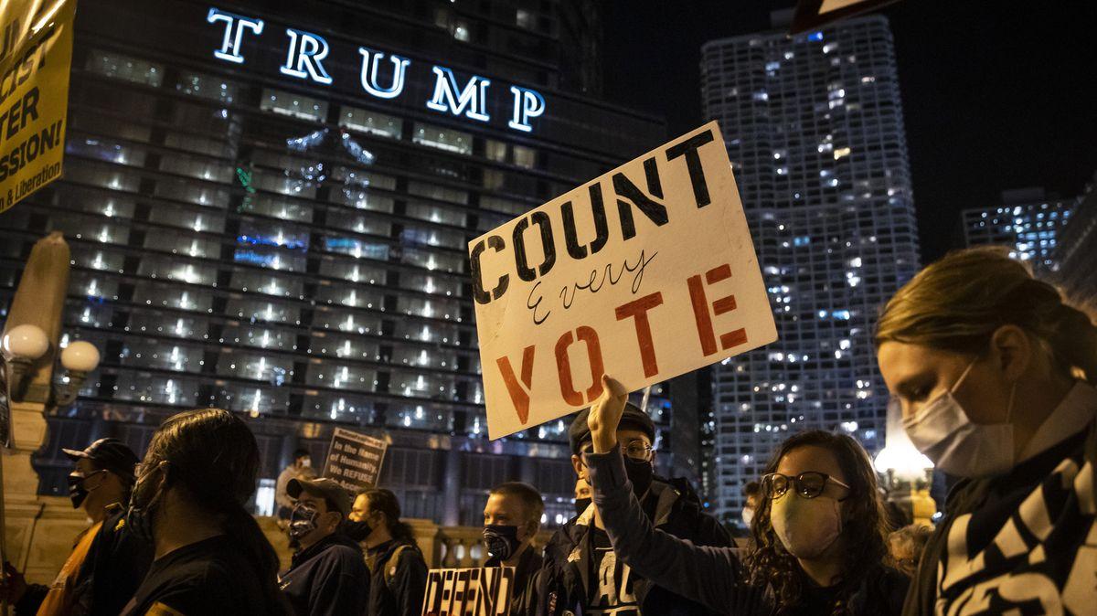Demonstranten in Chicago