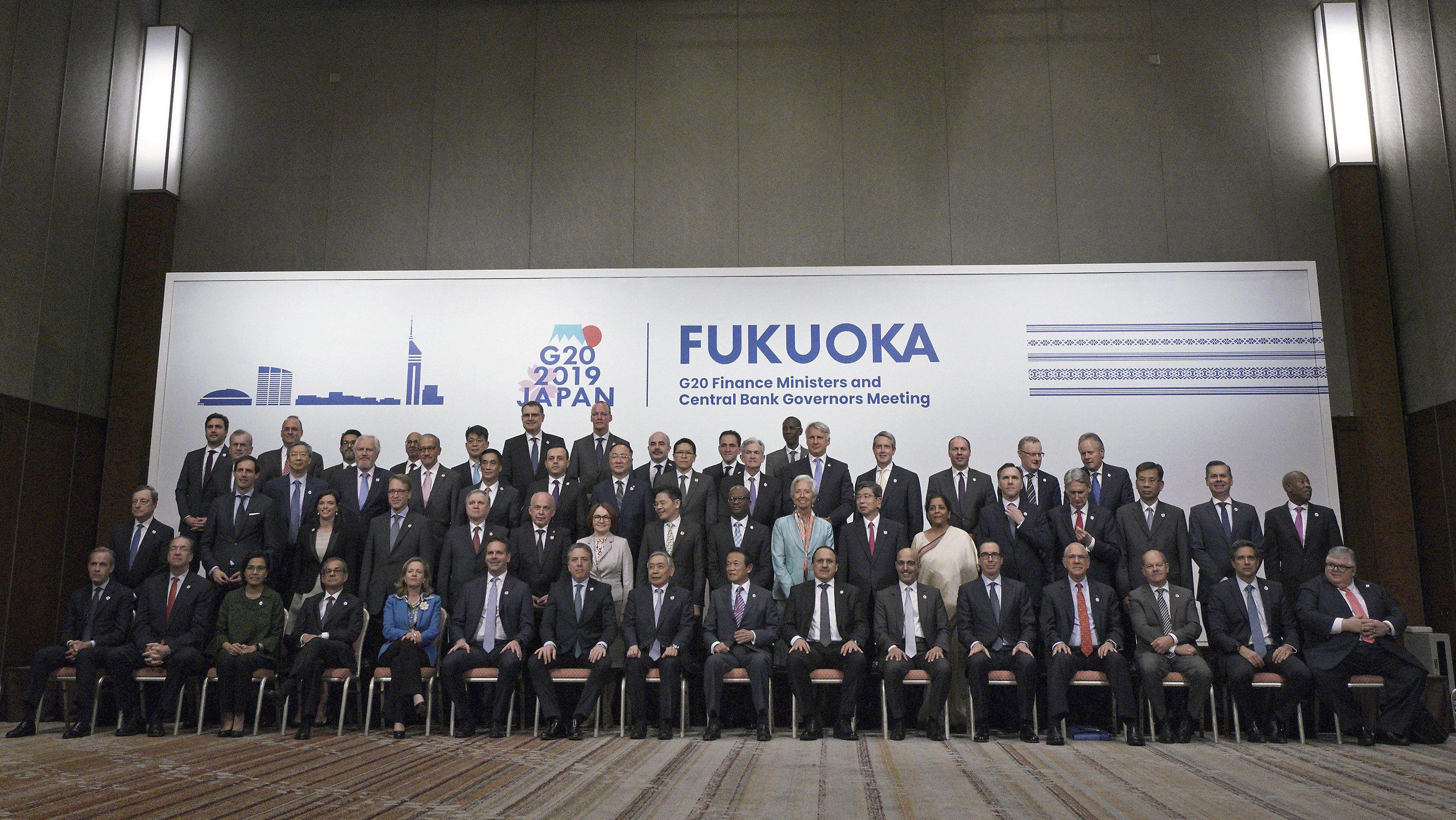 G20-Finanzminister auf einem Gruppenfoto anlässlich des Treffens der Finanzminister und Zentralbankchefs der G20-Staaten