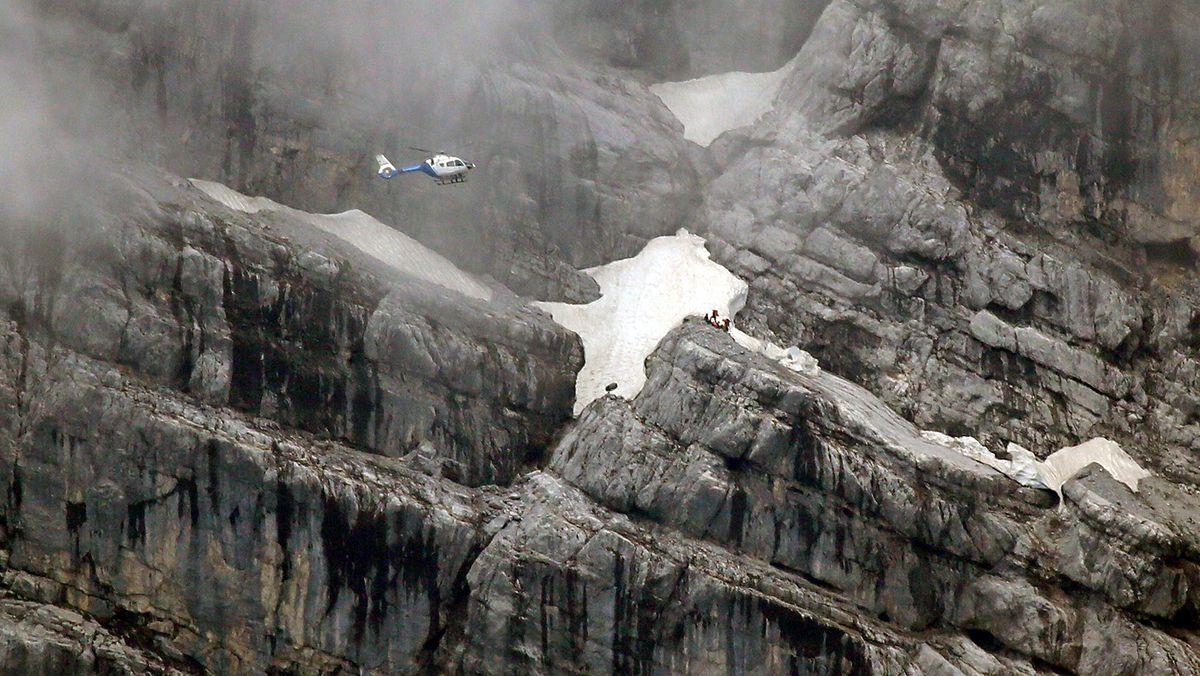Rettungseinsatz für Bergsteiger in der Watzmann-Ostwand am 07.07.2020.