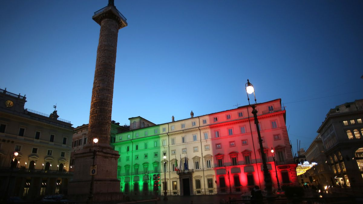 Palazzo Chigi, Regierungssitz des italienischen Ministerpräsidenten.