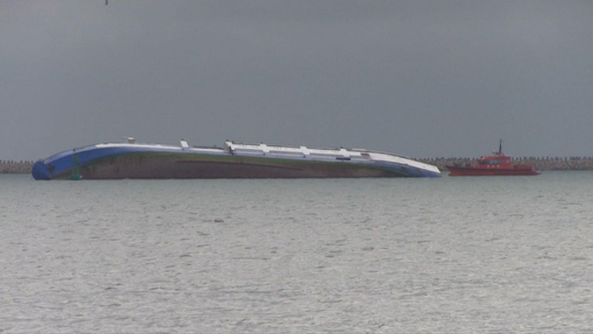 Gekentertes Frachtschiff Queen Hind