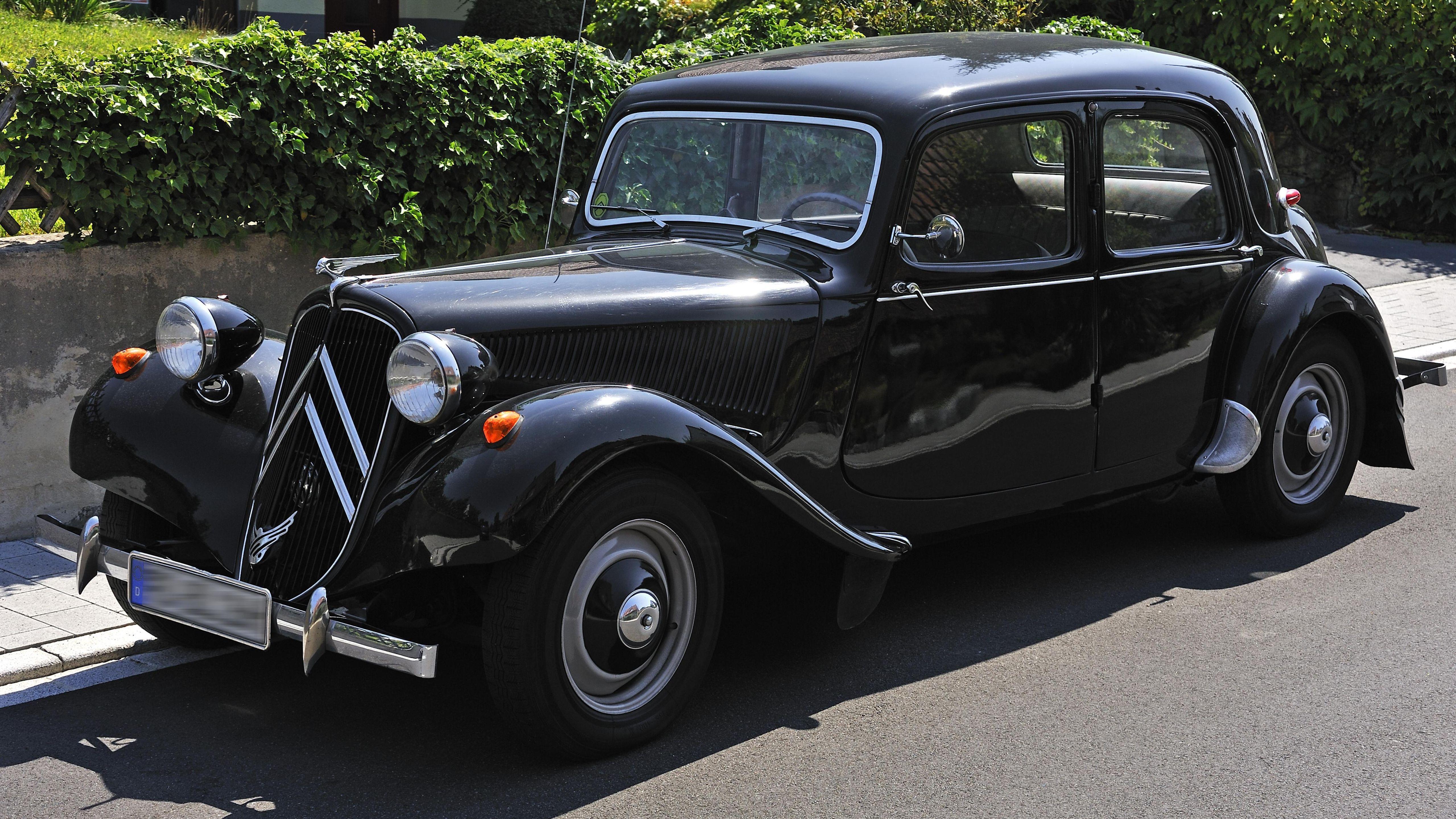 Der Citroën 11 CV Baujahr 1938, sogenannter Gangster-Citroen