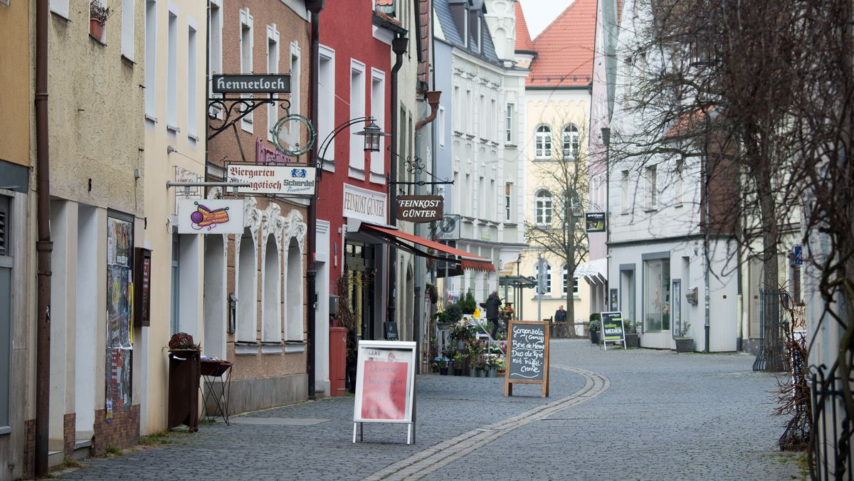 Die Altstadt von Weiden in der Oberpfalz