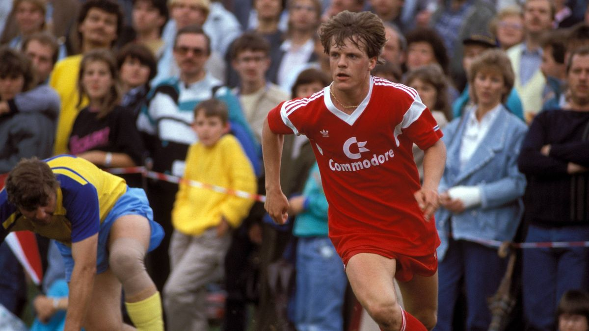 Lars Lunde 1987  im Trikot des FC Bayern