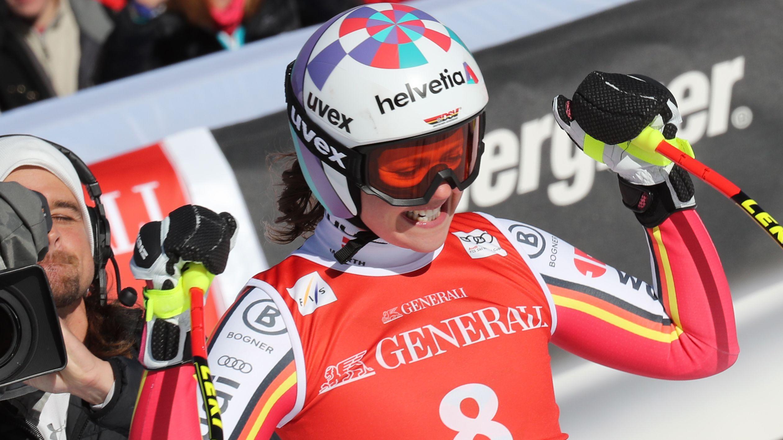 Viktoria Rebensburg siegt in Garmisch-Partenkirchen.