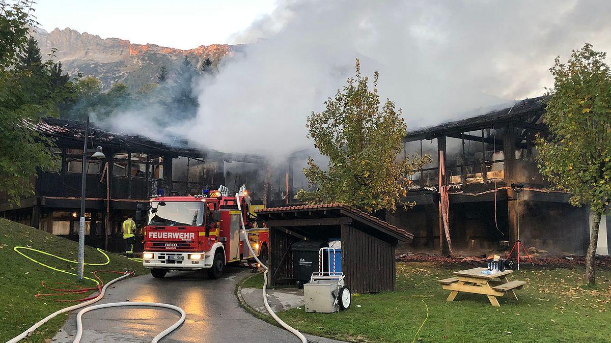 Feuerwehreinsatz am 4. Oktober 2019 am Schulzentrum auf der Buchenhöhe in Berchtesgaden.