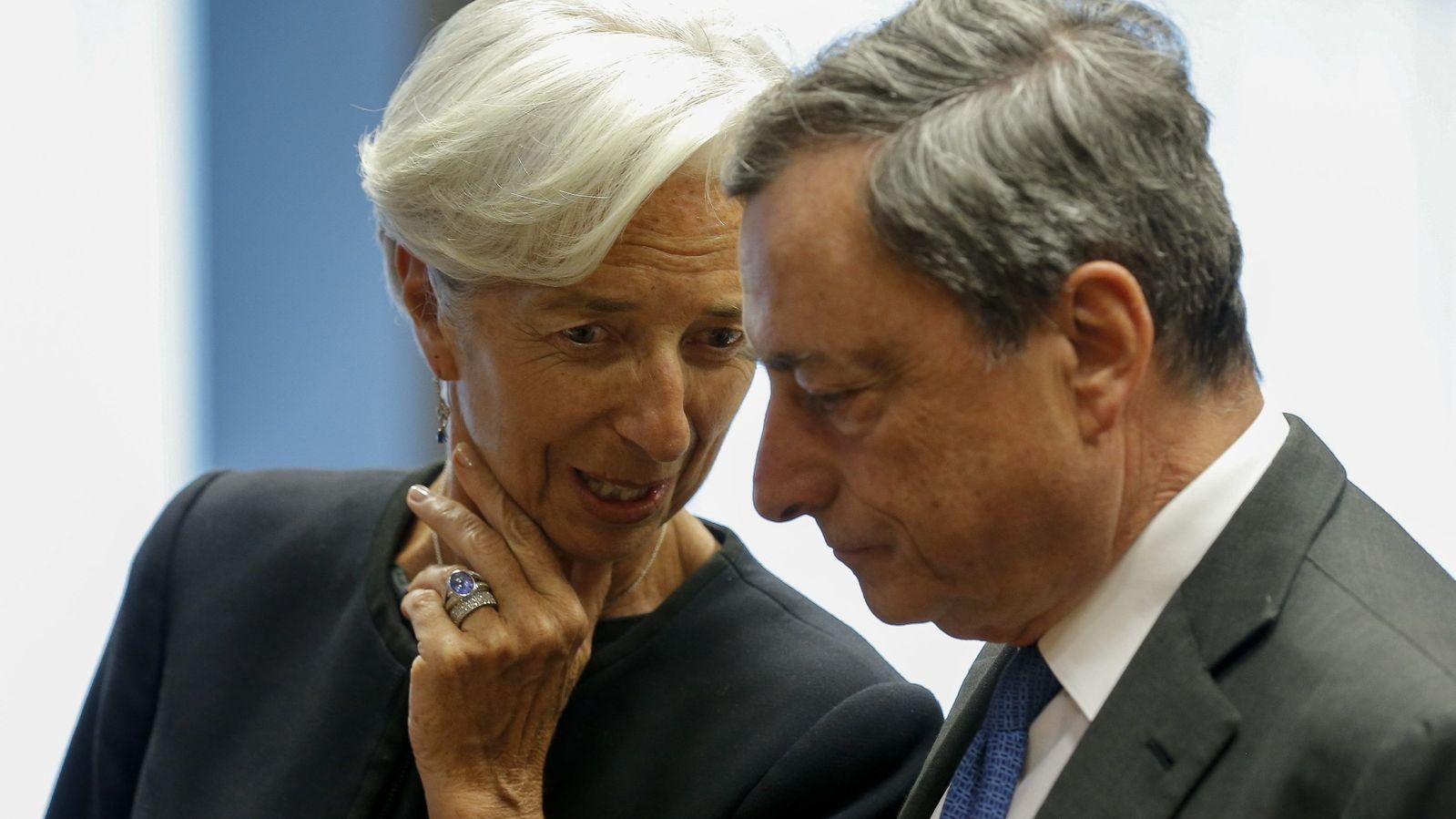 Christine Lagarde und Mario Draghi bei einem früheren Treffen.