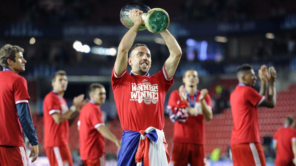 Franck Ribéry 2013 mit dem Supercup