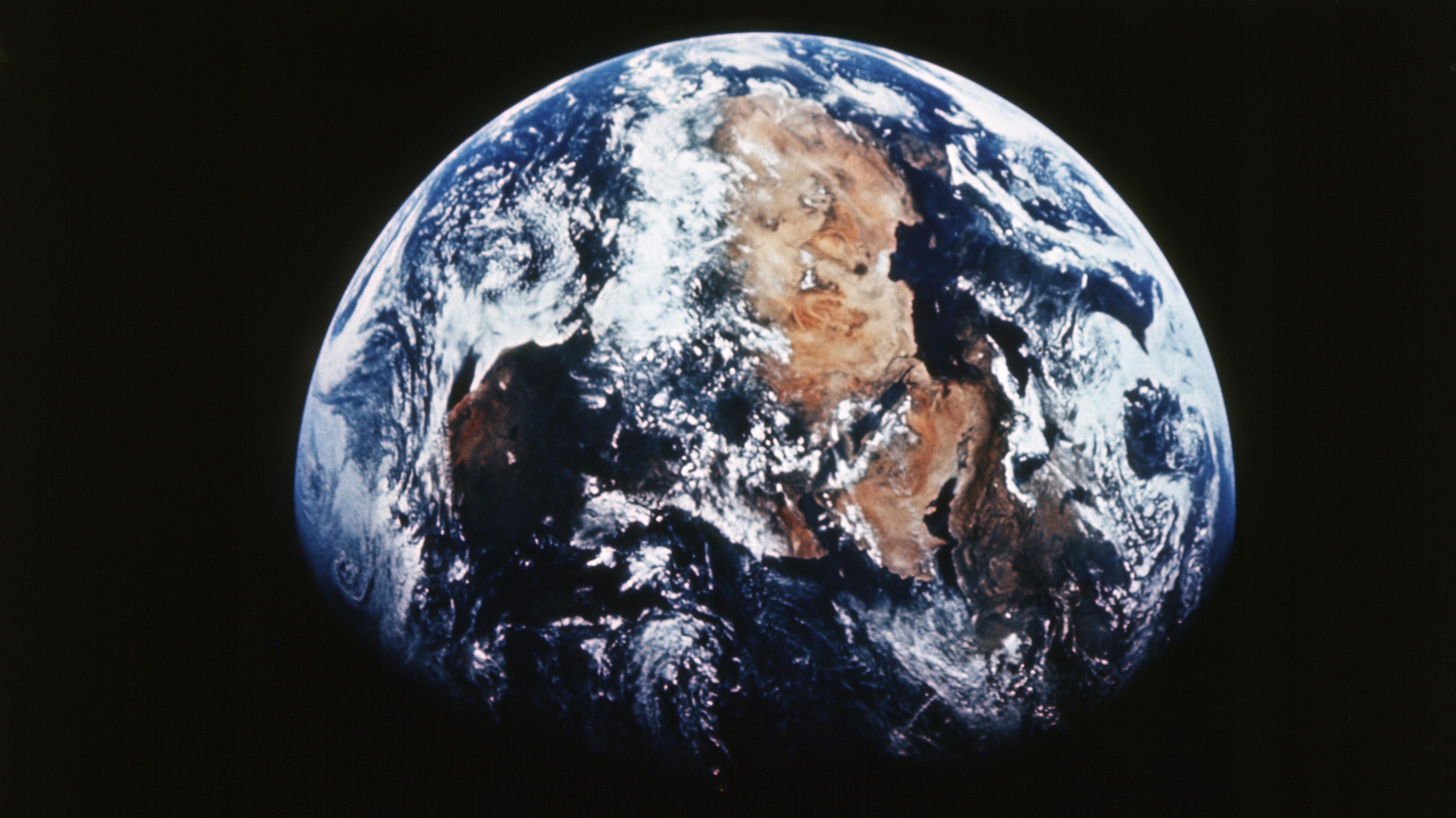 Die Erde - von Mondmission Apollo 8 an Weihnachten 1968 aus gesehen