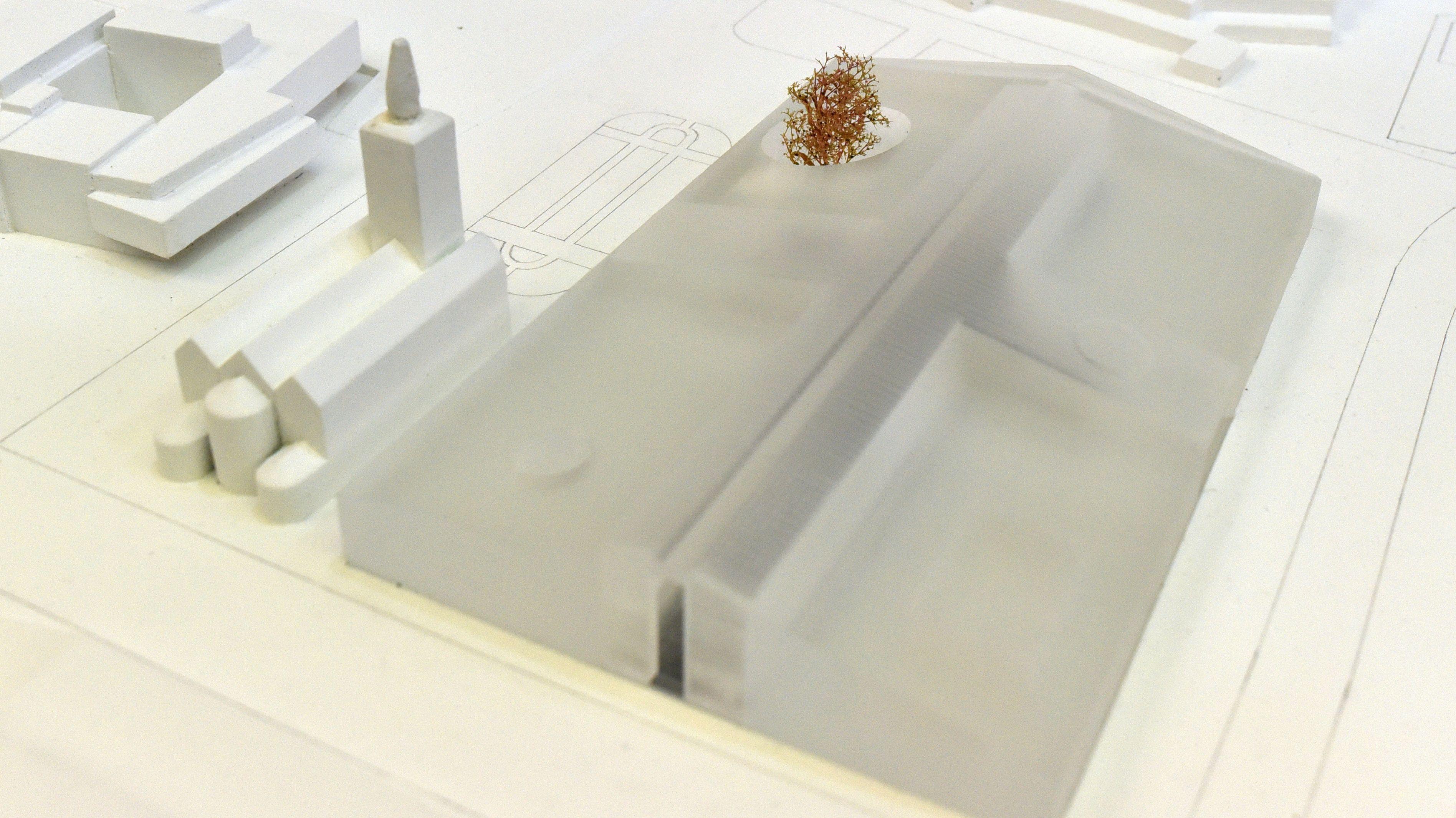 Architekturmodell der Architekten von Herzog & de Meuron für das Museum der Moderne in Berlin