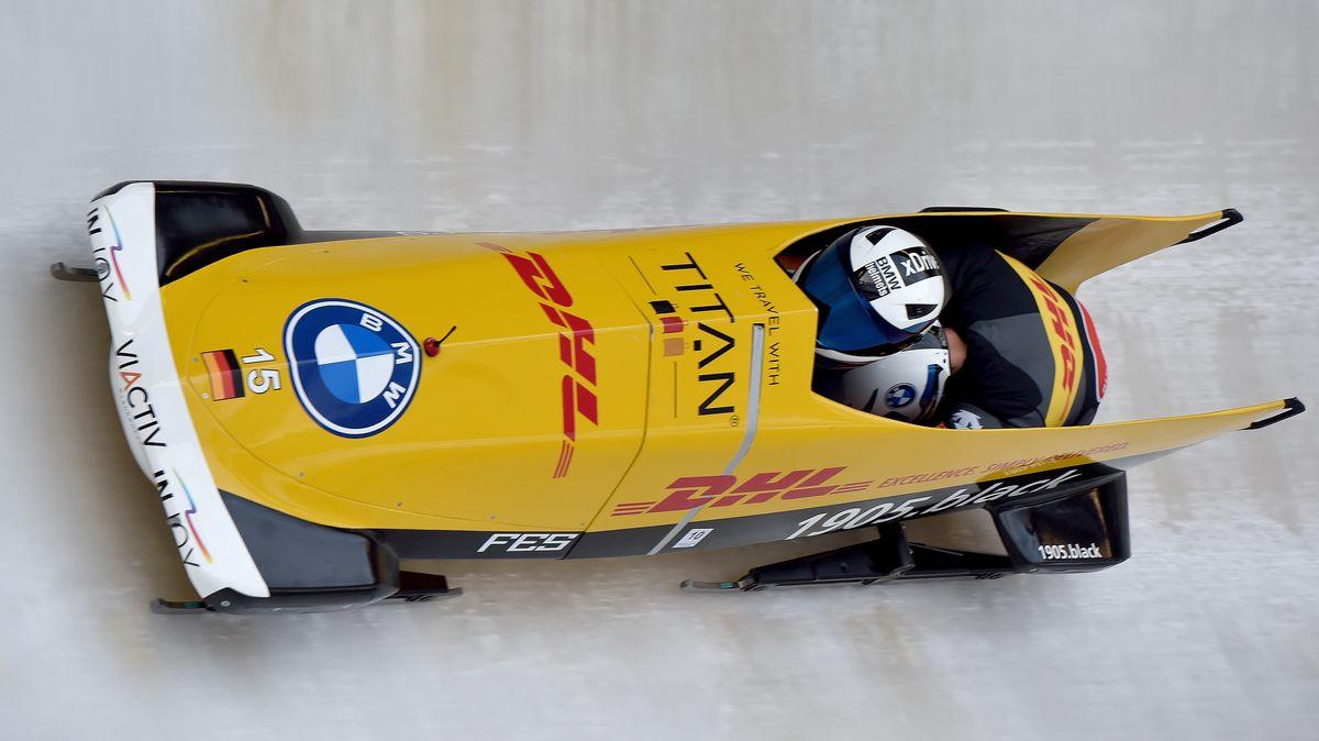 Johannes Lochner im Eiskanal.