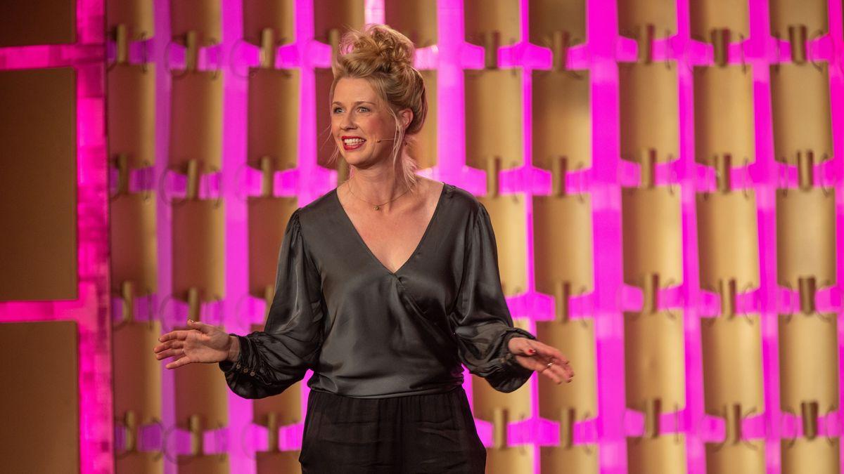 Christine Eixenberger bei der Verleihung des Bayerischen Kabarettpreises 2019 (Archivbild)