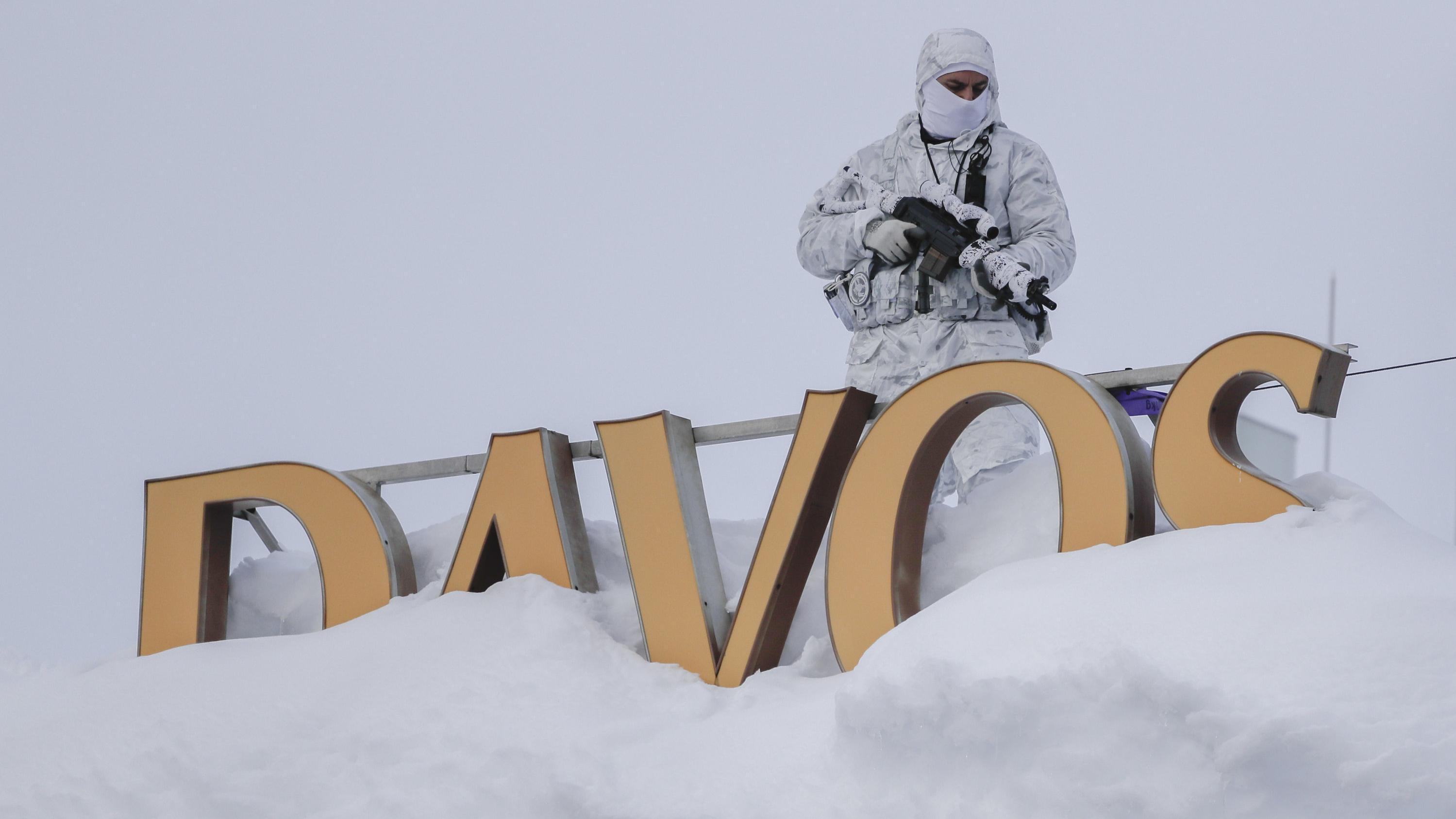 Scharfschütze auf dem Hotel Davos.