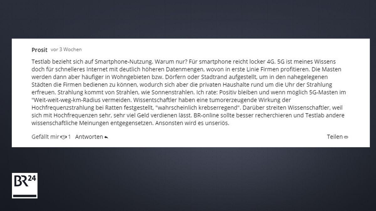 Leser-Kommentar zu 5G auf BR24.de