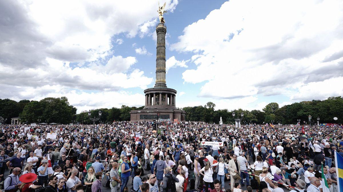 Proteste gegen Corona-Maßnahmen in der Berlin